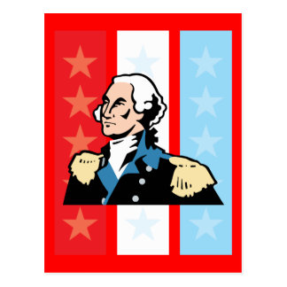 I Love America - George Washington President USA Postcard