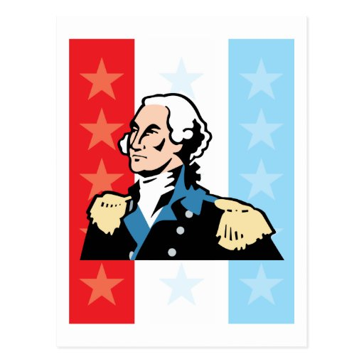 I Love America - George Washington President USA Post Card