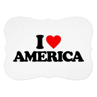 I LOVE AMERICA PERSONALIZED INVITATIONS