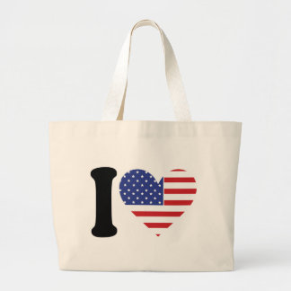 I Love America Large Tote Bag
