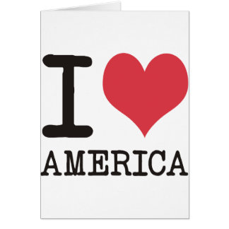 I LOVE AMERICA Products & Designs! Greeting Card
