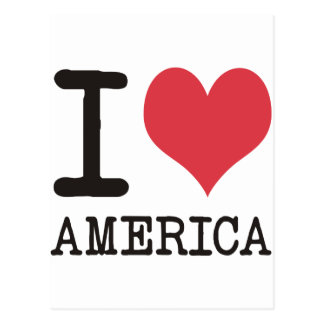 I LOVE AMERICA Products & Designs! Postcard