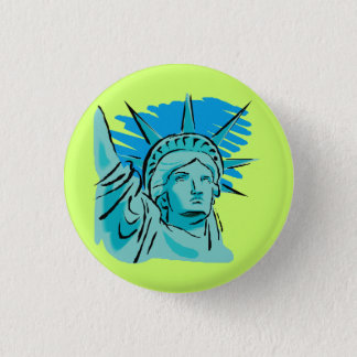 I Love America - Statue Of Liberty New York USA 3 Cm Round Badge