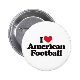 I Love American Football 6 Cm Round Badge