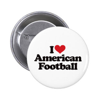 I Love American Football Pin
