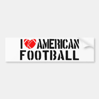 I Love American Football Bumper Sticker