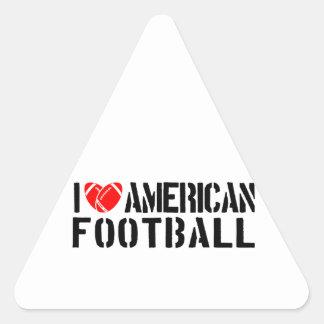 I Love American Football Triangle Sticker