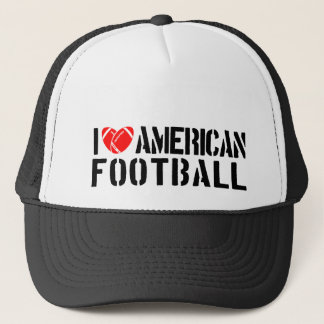 I Love American Football Trucker Hat