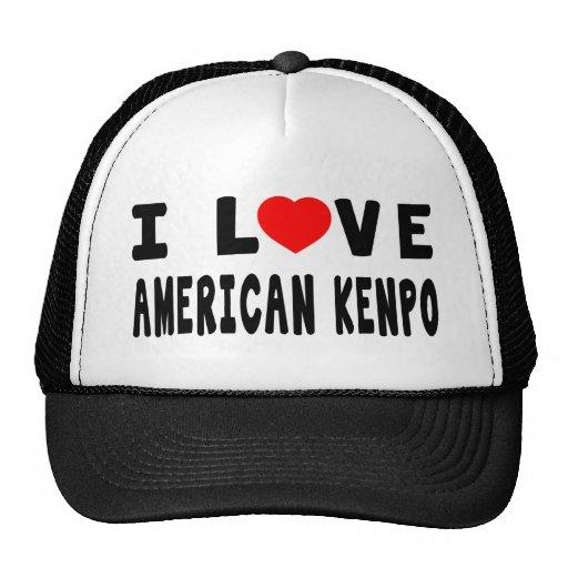 I Love American Kenpo Martial Arts Hat