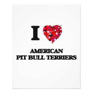 I love American Pit Bull Terriers 11.5 Cm X 14 Cm Flyer