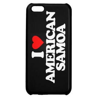 I LOVE AMERICAN SAMOA iPhone 5C CASES