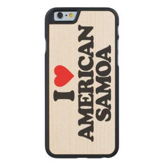 I LOVE AMERICAN SAMOA CARVED® MAPLE iPhone 6 SLIM CASE