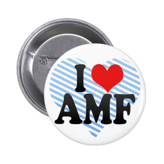 I Love AMF Pinback Buttons