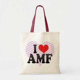 I Love AMF Tote Bag