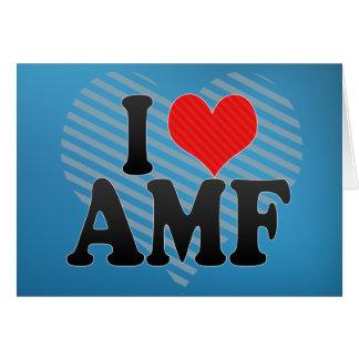 I Love AMF Greeting Card