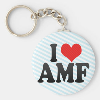 I Love AMF Keychains