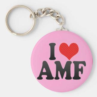 I Love AMF Keychain