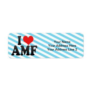 I Love AMF Return Address Label