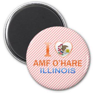 I Love AMF O Hare IL Fridge Magnet
