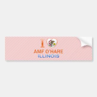 I Love AMF O'Hare, IL Bumper Sticker