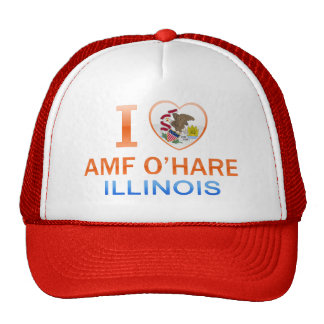 I Love AMF O'Hare, IL Hats