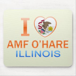 I Love AMF O'Hare, IL Mouse Pad