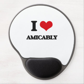 I Love Amicably Gel Mousepad