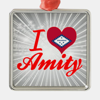 I Love Amity, Arkansas Christmas Tree Ornaments