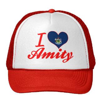 I Love Amity, Maine Trucker Hats