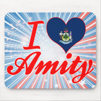 I Love Amity Maine Mouse Pads
