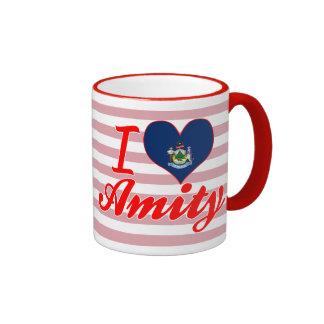 I Love Amity, Maine Ringer Mug