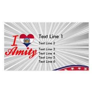 I Love Amity, Missouri Business Card Templates