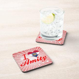 I Love Amity Missouri Beverage Coasters