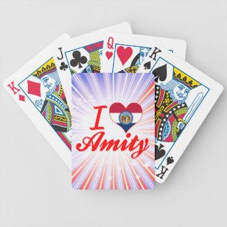 I Love Amity Missouri Bicycle Poker Cards