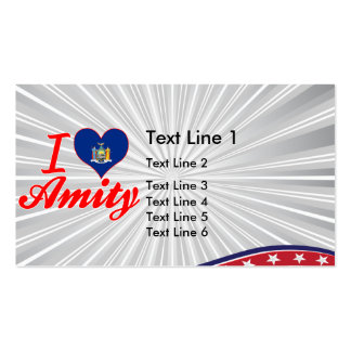 I Love Amity, New York Business Card