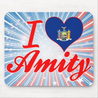 I Love Amity New York Mousepad