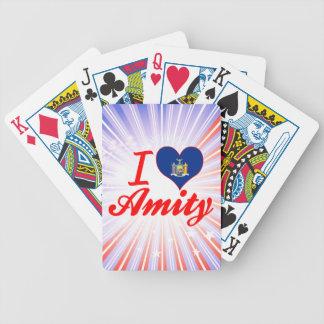I Love Amity New York Bicycle Poker Deck