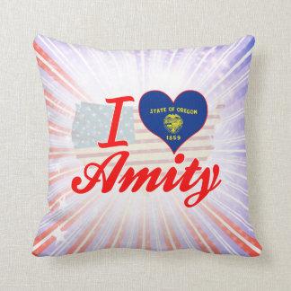 I Love Amity, Oregon Pillow