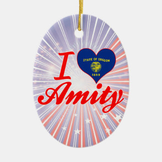 I Love Amity, Oregon Ornaments