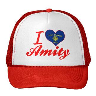 I Love Amity, Oregon Mesh Hats