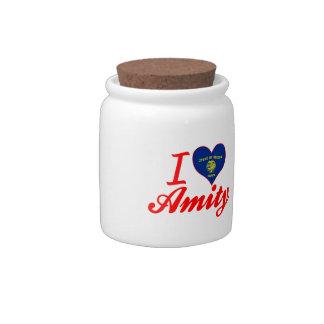 I Love Amity, Oregon Candy Jars
