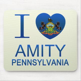 I Love Amity PA Mousepad