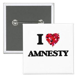 I Love Amnesty 15 Cm Square Badge