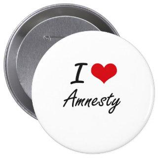I Love Amnesty Artistic Design 10 Cm Round Badge