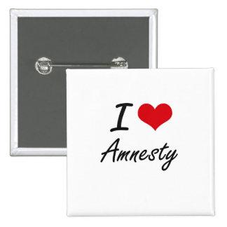 I Love Amnesty Artistic Design 15 Cm Square Badge
