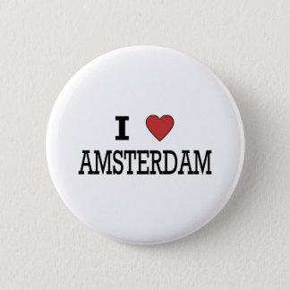 I Love Amsterdam 6 Cm Round Badge