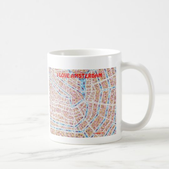I LOVE AMSTERDAM COFFEE MUG
