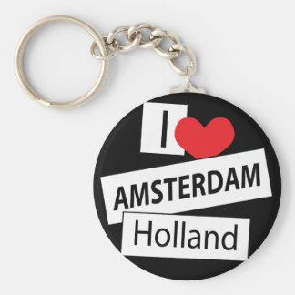 I Love Amsterdam Holland Key Chain