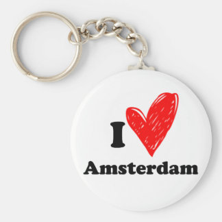 I love Amsterdam Key Ring