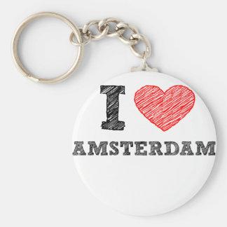 I Love Amsterdam Key Ring